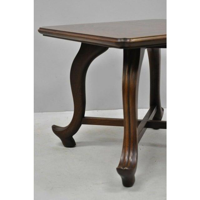 John Widdicomb 20th Century Hollywood Regency John Widdicomb Walnut Low Side Table For Sale - Image 4 of 11