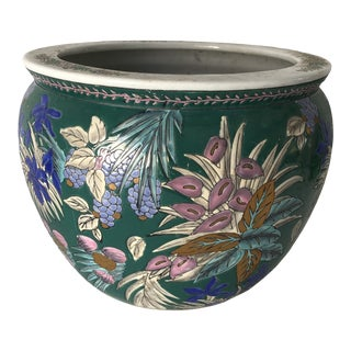 Vintage Chinese Indoor Flower Pot 13dia X 10h For Sale