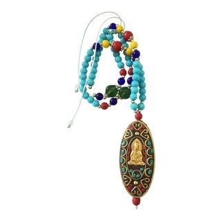 Tibetan Buddha Prayer Beads Necklace For Sale