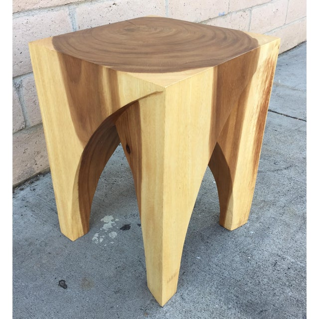 This stylish stool or end table is made of solid acacia wood. It has beautiful contrasting wood tone that will add a nice...