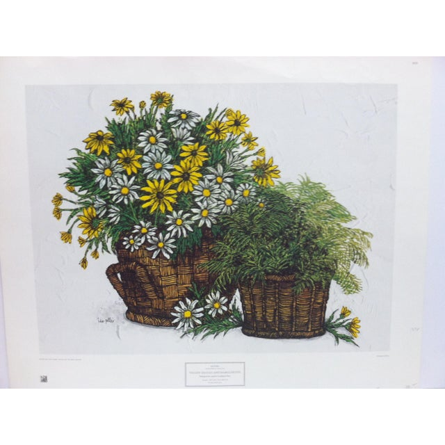 """This is a New York Graphic Society Floral Print that is titled """"Yellow Daises and Marguerites"""" by Ida Pellei. The Print is..."""
