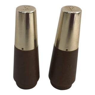 Danish Modern Salt & Pepper Shakers - A Pair