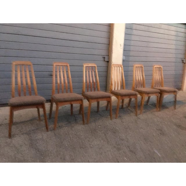 Brown Benny Linden Design Mid-Century Dining Table & 6 Chairs For Sale - Image 8 of 11