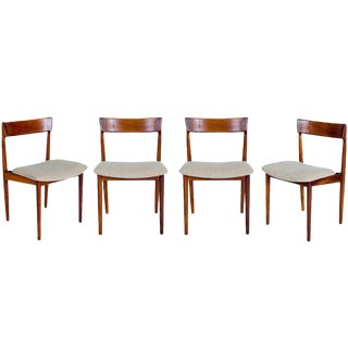 SET of 4 ROSEWOOD ROSENGREN HANSEN DINING CHAIRS For Sale