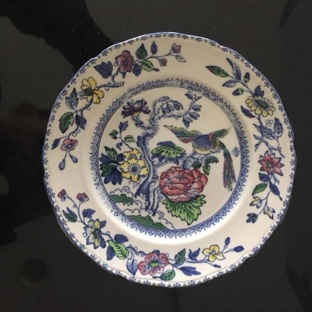 """Beautiful salad plate made in England. """"Davenport"""" Pattern. Stamped on back Wedgwood & Co Ltd. England. Regd Trademark No...."""