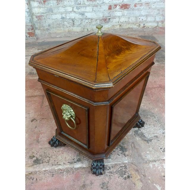 "19th c. Fabulous English Regency Mahogany Wine Cellarette 1820s size 18 x 14 x 21"""