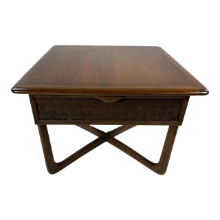 1960s Mid Century Modern Danish Lane Perception Side Table For Sale