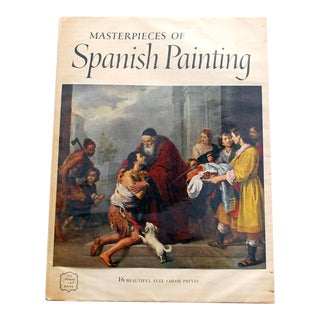 "1950s ""Masterpieces of Spanish Painting"" Art Book Including 16 Prints For Sale"