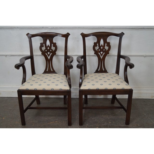 Henkel Harris Solid Mahogany Chippendale Style Dining Chairs - Set of 6 - Image 2 of 10