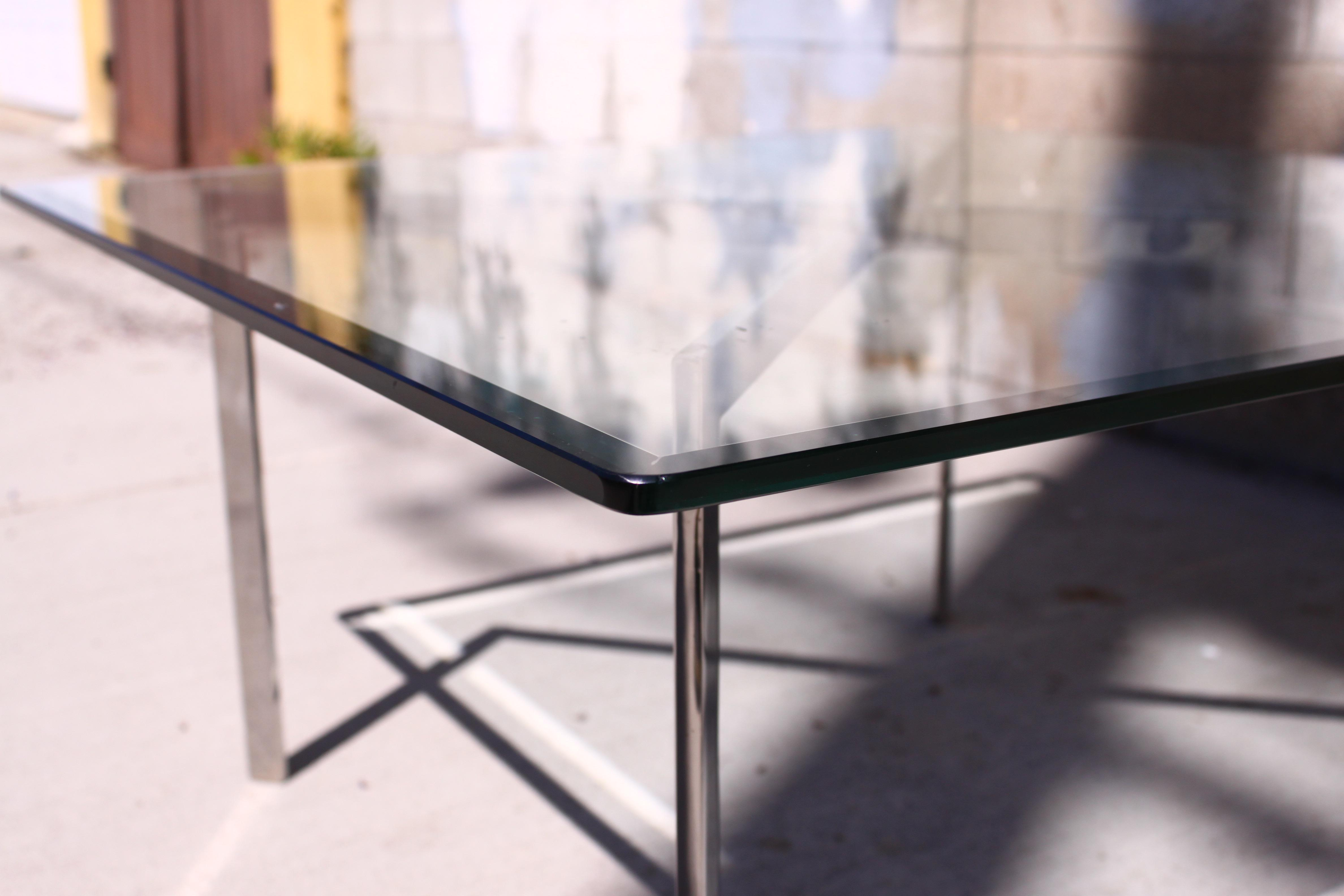 Mies Van Der Rohe Style Vintage Barcelona Coffee Table   Image 5 Of 10