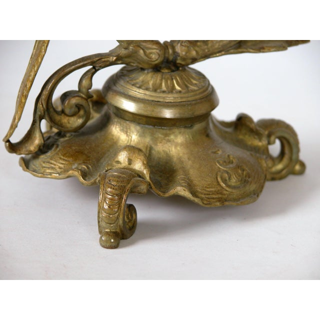 19th C. French Gilded Bronze & Glass Epergne - Image 7 of 8