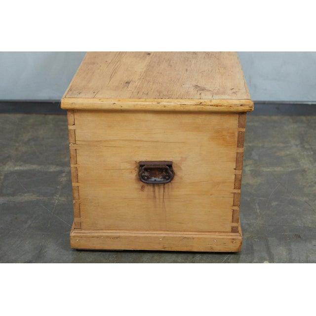 19th Century Large English Pine Trunk For Sale - Image 5 of 9