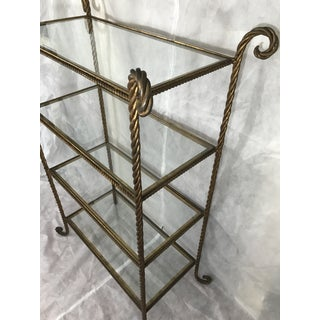 Vintage Italian Gilt Rope Etagere Preview