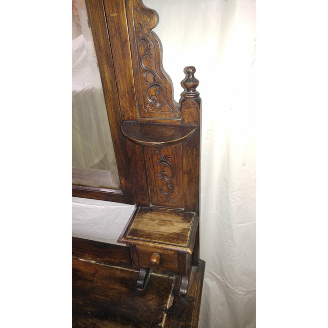 20th Century British Colonial Rose Wood Vanity For Sale - Image 9 of 10