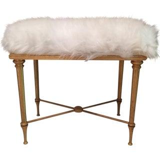Faux Fur Empire Stool For Sale