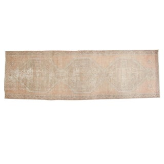 "Distressed Oushak Rug Runner - 3'5"" X 10'9"" For Sale"