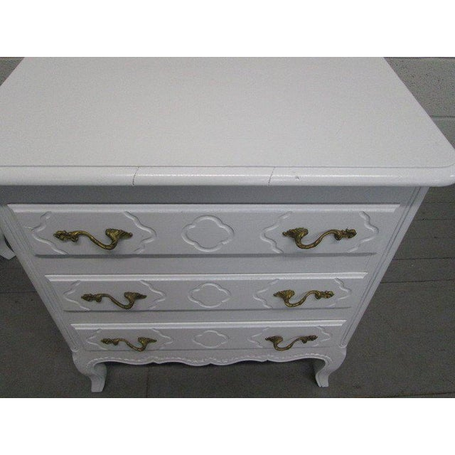 Pair French Style Nightstands Chests - Image 5 of 6