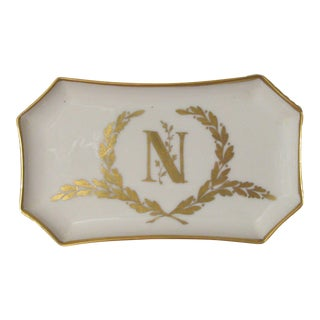 Napoleon Limoges Porcelain Tray, Signed by Artist
