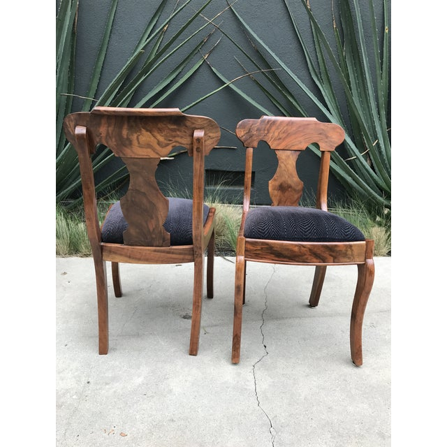 Handmade Burlwood Dining Chairs - Set of 5 - Image 5 of 6