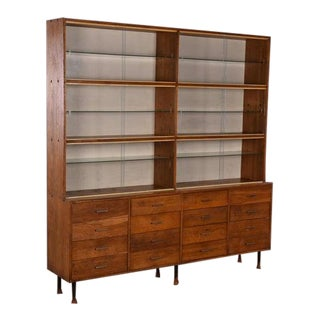 1930s Apothecary Haberdashery Display Cabinet For Sale