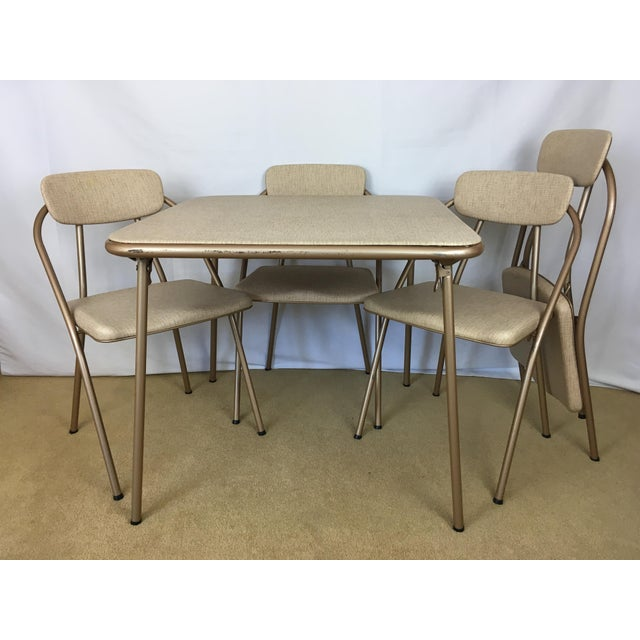 Vintage Stylaire Mid Century Modern Folding Table and Chairs For Sale - Image 13 of 13