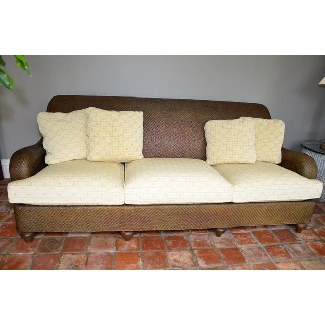 Hickory Chair Company Rattan Three Seat Sofa Couch - Image 2 of 8