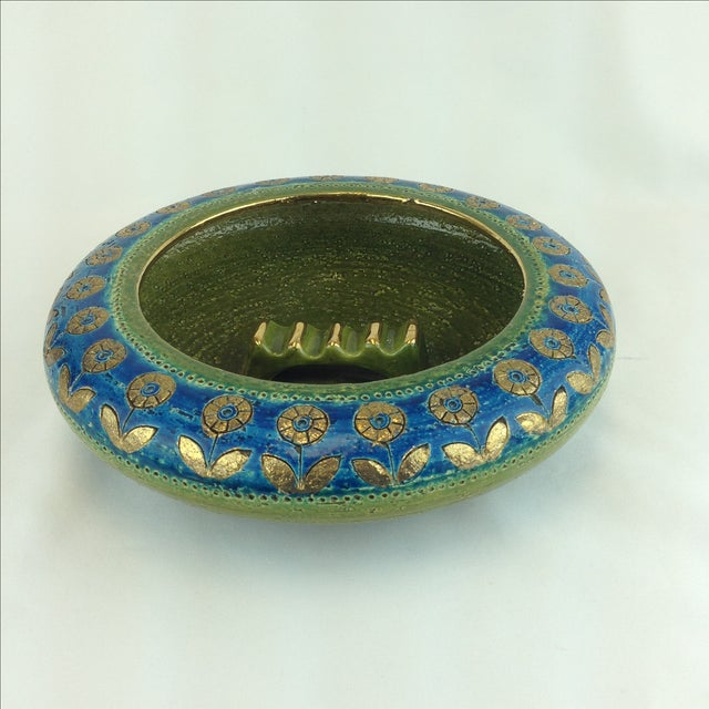 Boho Chic Aldo Londi Bitossi Rosenthal Netter Ashtray For Sale - Image 3 of 6