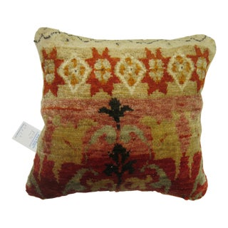 Oushak Rug Pillow For Sale