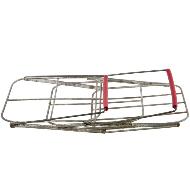 French Folding Wire Bottle Carrier - Image 5 of 5