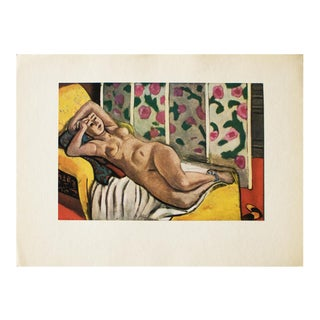 1940s H. Matisse, Nude on the Yellow Chaise Longue Original Period Lithograph For Sale