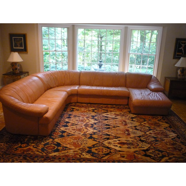 Sarlotti Natuzzi Leather Sectional Sofa - Image 3 of 7