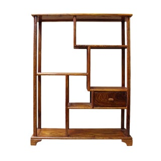Chinese Rosewood Rectangular Small Table Top Curio Display Stand cs2626