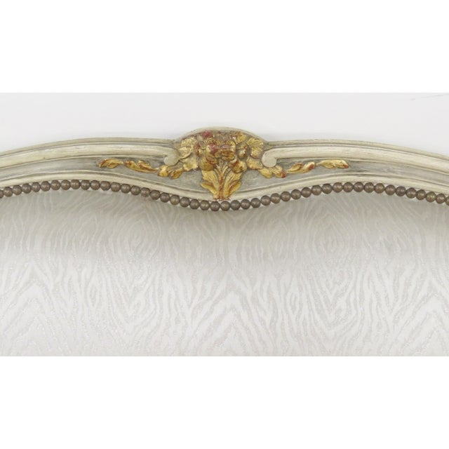 Jansen Louis XVI Style Cream Painted Sofa - Image 5 of 6
