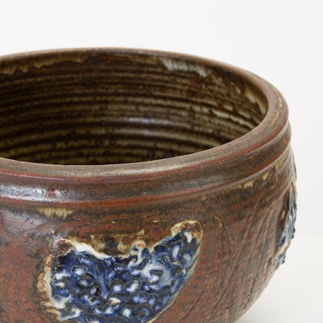 Blue Vivika and Otto Heino Studio Pottery Bowl For Sale - Image 8 of 9