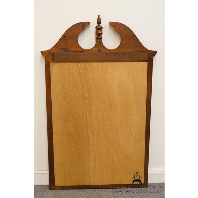 Crescent Solid Cherry Pediment Top Wall Mirror For Sale - Image 4 of 6