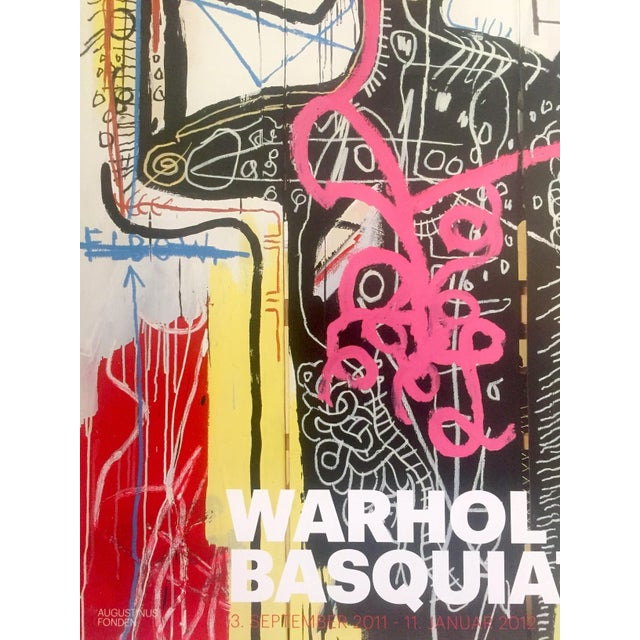 Lithograph Andy Warhol & Jean Michel Basquiat Rare Limited Edition Original Offset Lithograph Print Poster For Sale - Image 7 of 11