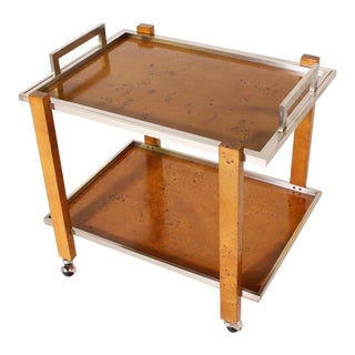 French Bar Cart by Willy Rizzo, C. 1970 For Sale