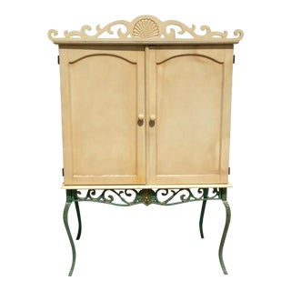 20th Century Traditional Style Armoire Cabinet For Sale