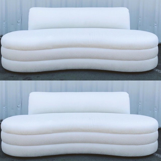 Curved Couches After Vladimir Kagan - a Pair For Sale - Image 13 of 13