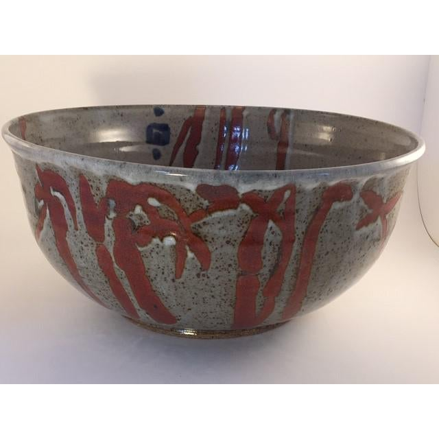 1960s Mid-Century Pottery Bowl For Sale - Image 11 of 11