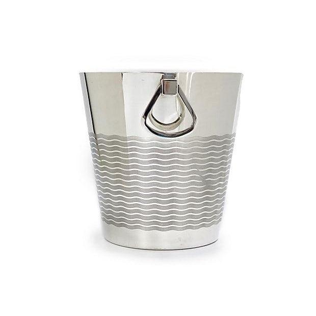 1940's French Saint Medard, Paris champagne bucket. Art Deco styling, by silversmith Saint Medard, Paris Maker's mark on...
