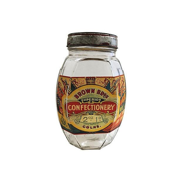 English Confectionery Jar - Image 1 of 3