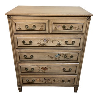 Vintage Herald Furniture Hand-Painted Dresser For Sale