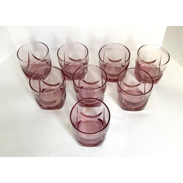 I love this set of pale pink lowball glasses! They make everything around them look lovely! The bottoms are made of thick...