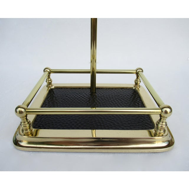 Gold Vintage C.1970s Brass Fireplace Tool Set and Holder - 4 Pieces For Sale - Image 8 of 13