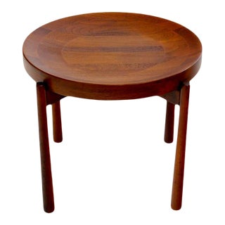 Danish Modern Solid Staved Teak Tray Table Designed by Jens Quistgaard For Sale