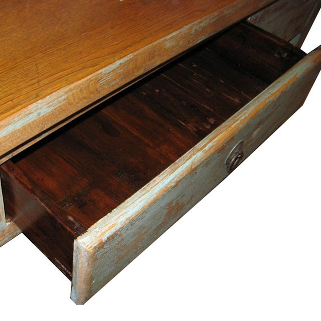 Distressed Blue Table - Image 3 of 7