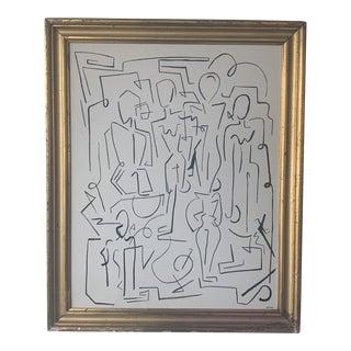 1970s Vintage Rae Framed Painting For Sale