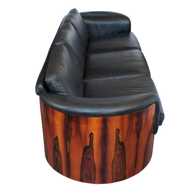 Animal Skin George Mulhauser for Plycraft Rosewood Case Sofa For Sale - Image 7 of 11