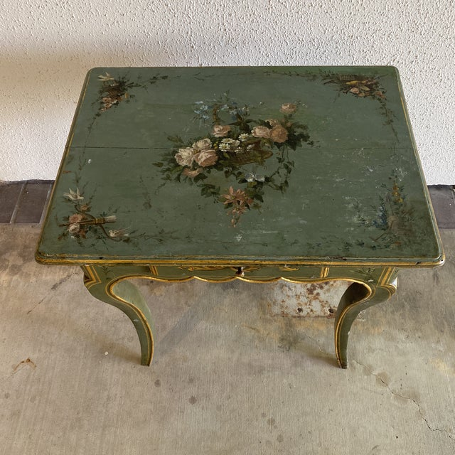 Early 19th Century 19th Century Hand Painted Side Table For Sale - Image 5 of 9